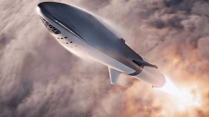 An artist's illustration of SpaceX's Big Falcon Rocket passenger spacecraft. Picture: SpaceX
