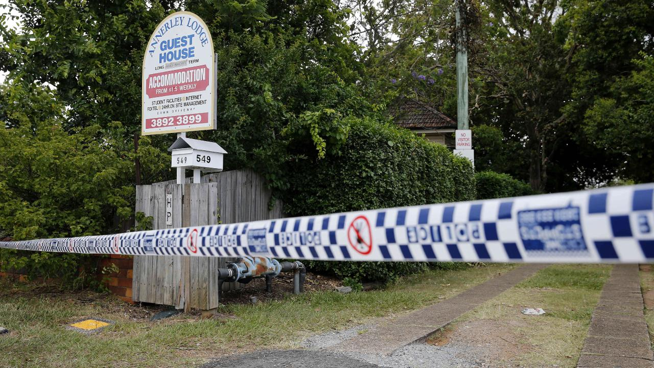 The crime scene cordoned off. Picture: Josh Woning/AAP