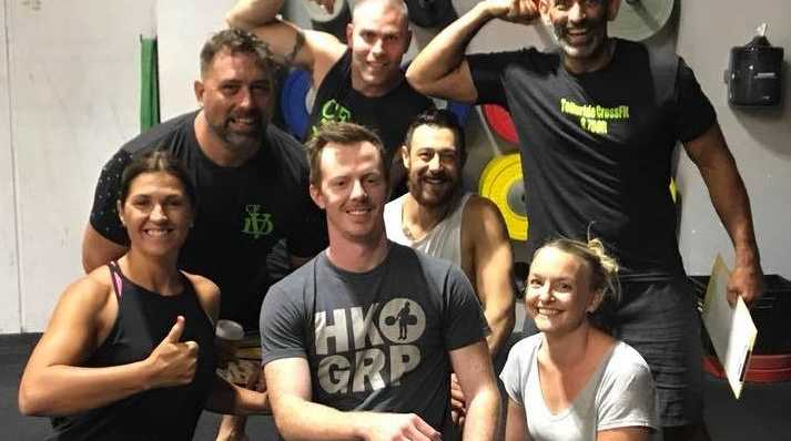 Josh, centre, is heading to Miami after qualifying to compete in an international CrossFit competition.