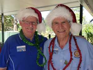 FESTIVE TIME: Rotary members Rick Stinton and Andrew