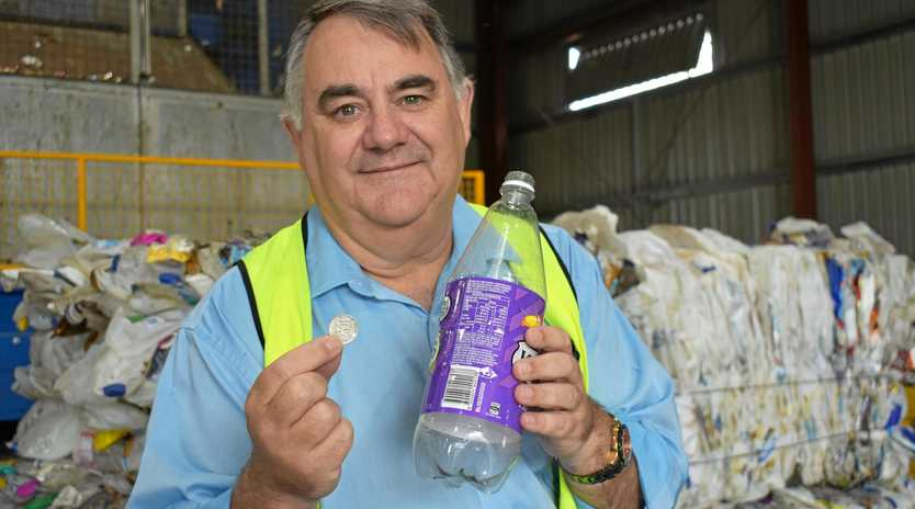 CONTAINERS FOR CHANGE: Anuha general manager Rob Evelyn.