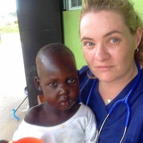 Rockhampton nurse, Jacinta O'Leary in Africa while working with Medicine sans Frontiers