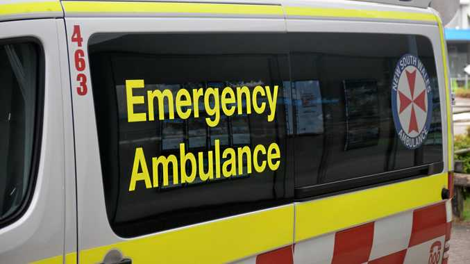Two taken to hospital after car crashes down embankment