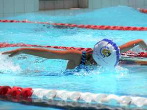 Swimmers in action