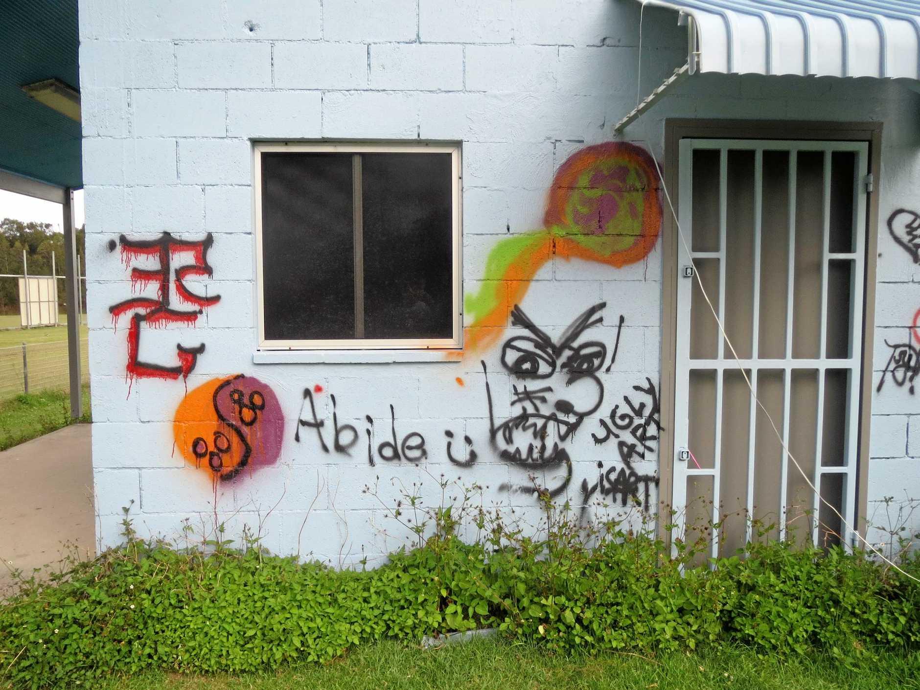 Sports Council, police seek perpetrator of graffiti damage.