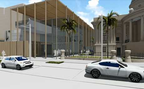 Artist's impression of the new $31.5 million art gallery.