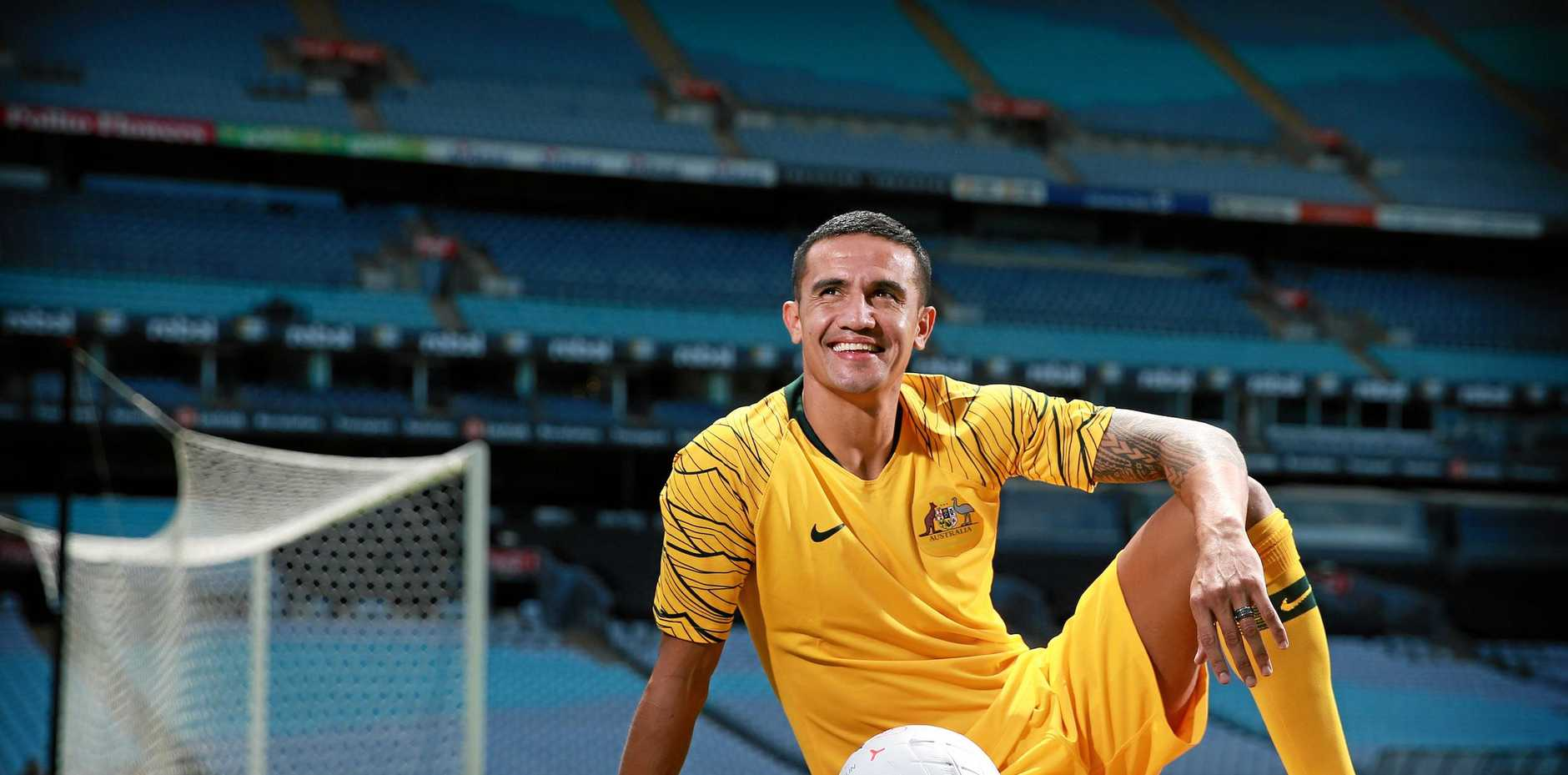 Tim Cahill relaxes ahead of his farewell match for the Socceroos.
