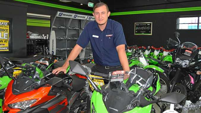 COMMUTE: Ultimate Motorbikes dealer principal Garvan Cannon says more people are downsizing to a motorcycle as a second vehicle.