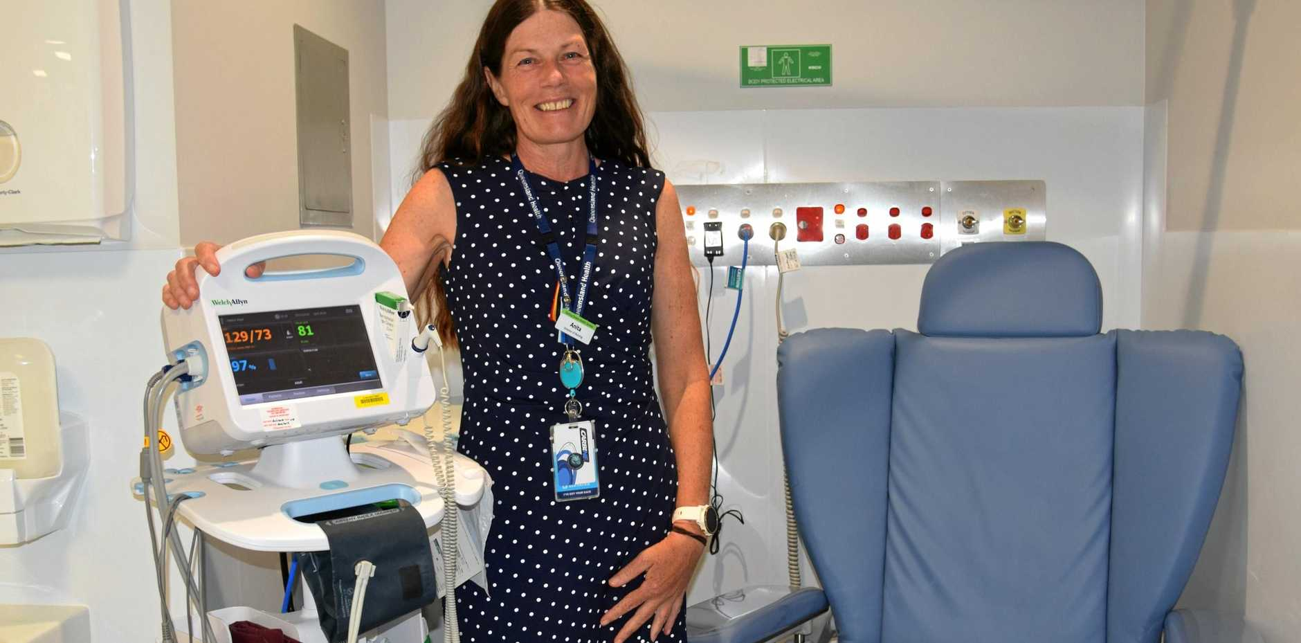 FRESH START: Warwick Hospital director of nursing Anita Bolton is proud of the new private and dedicated spaces created through the $3 million emergency department upgrade.