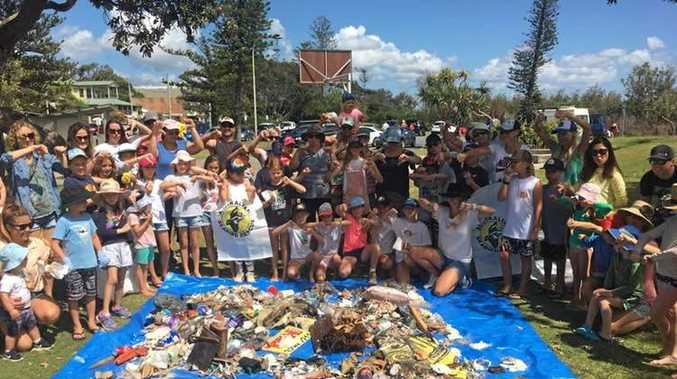 More than 50kg of rubbish was picked up in less than an hour at Kingscliff.