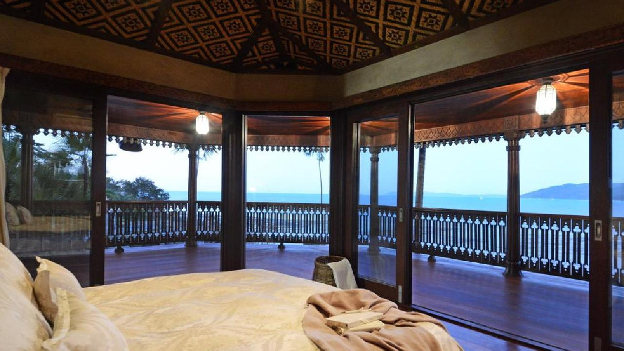 Stunning view out of one of Villa Botanica's bedrooms.