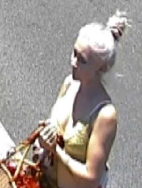 CCTV footage of murder victim Toyah Cordingley at Rusty's Markets on Sheridan St on Sunday, October 21.