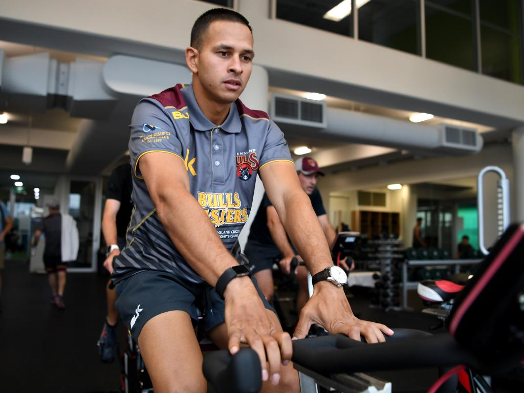 Test batsman Usman Khawaja has been working hard on his fitness. Picture: AAP