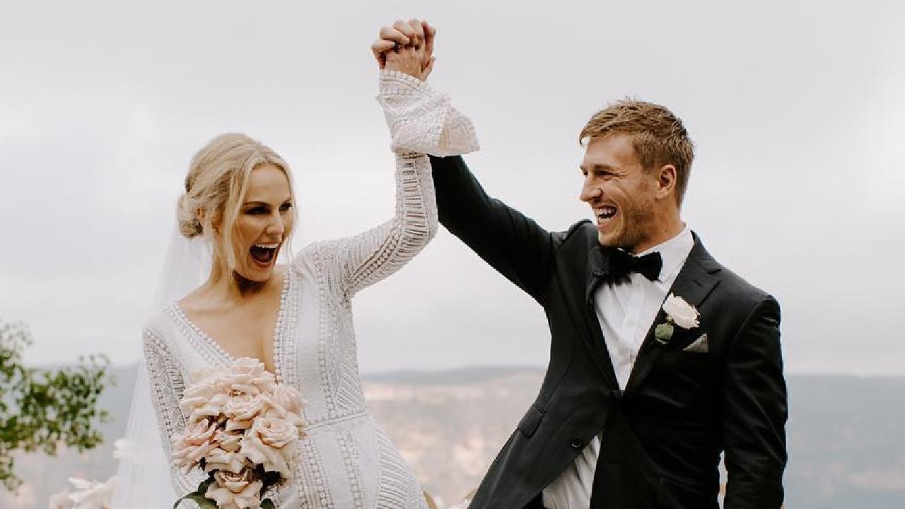 Charlotte Goodlet and Kieran Jack married.