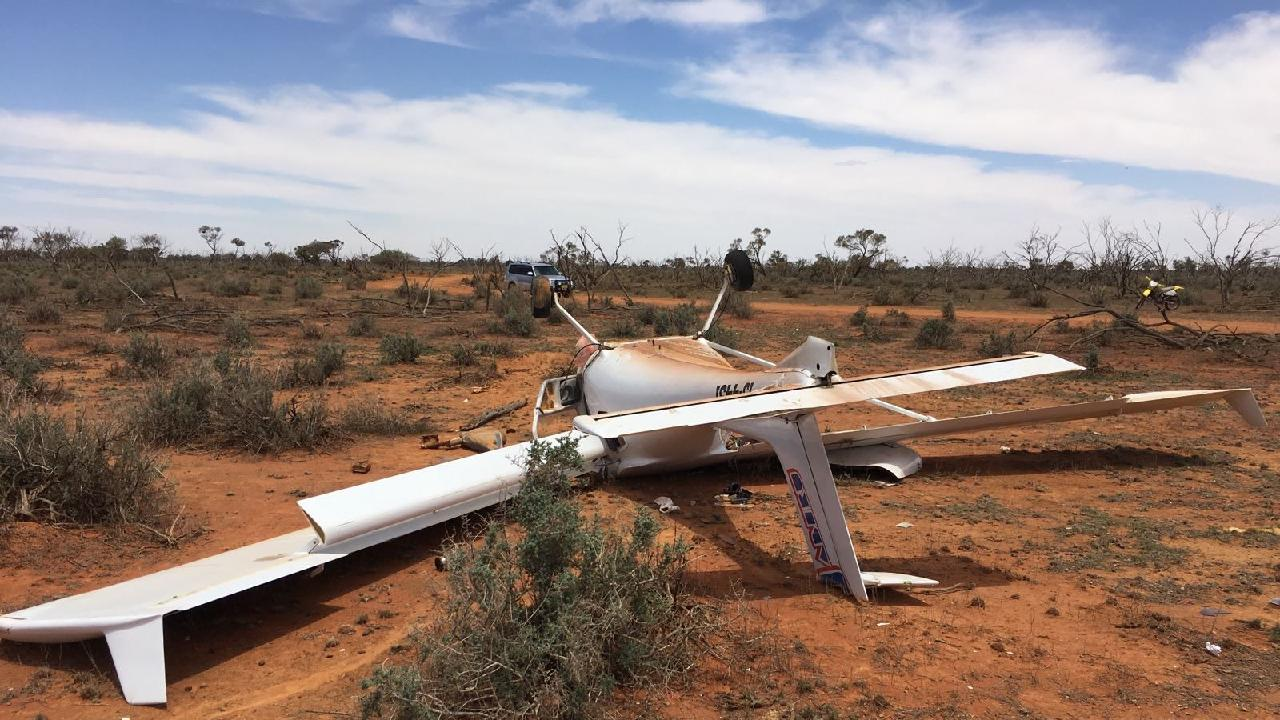 The light aircraft that crashed in NSW today. Picture: NSW Police