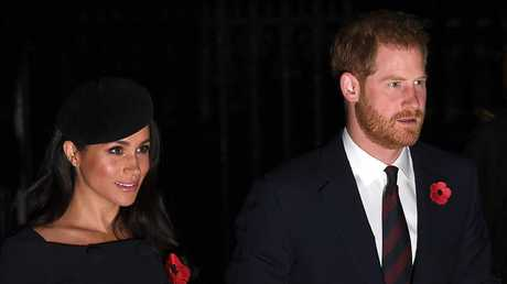 """Prince Harry's trust fund, which is now """"available"""" to his wife, could be on the American taxman's radar. Picture: Leon Neal/Getty Images"""