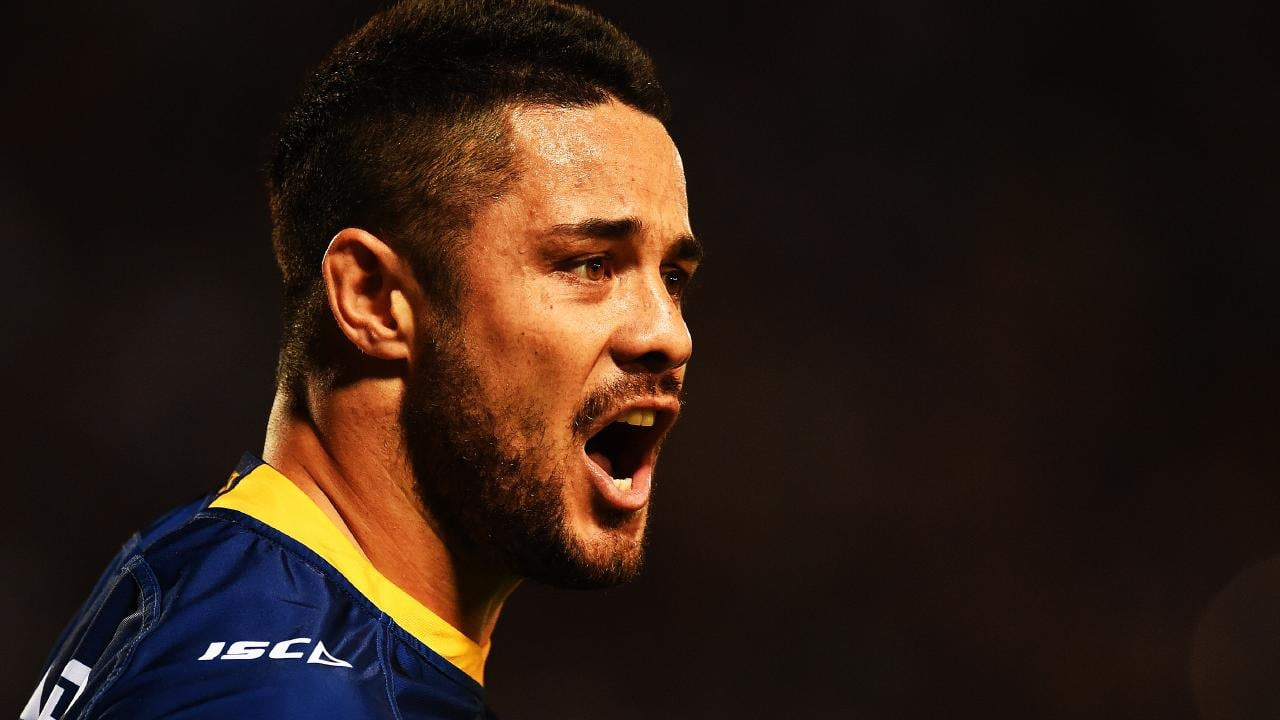 Jarryd Hayne is being questioned by police at Ryde police station. Picture: Zak Simmonds