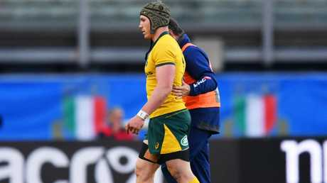 David Pocock suffered a neck injury against Italy. Picture: Getty Images