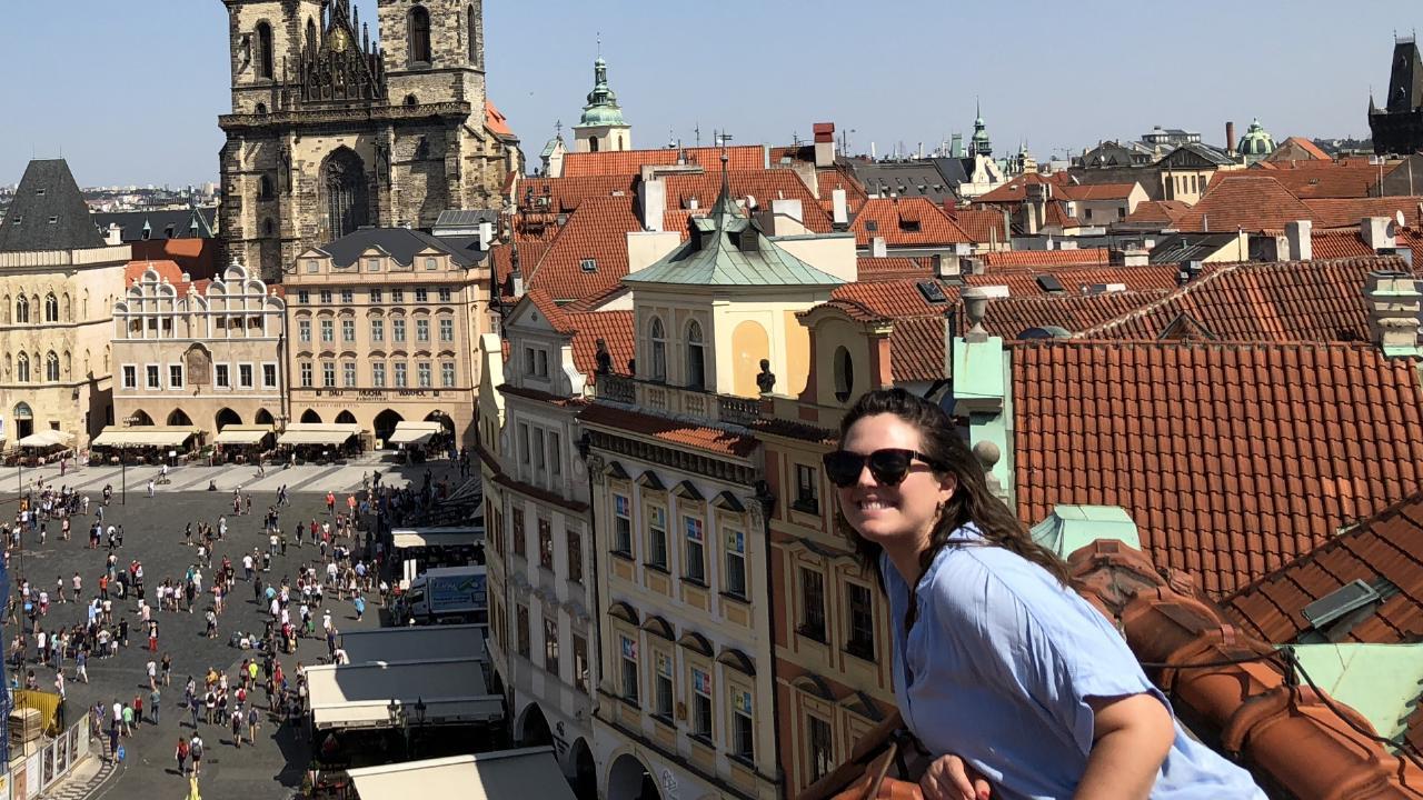 Elena Stavrou visited Prague on her European holiday.