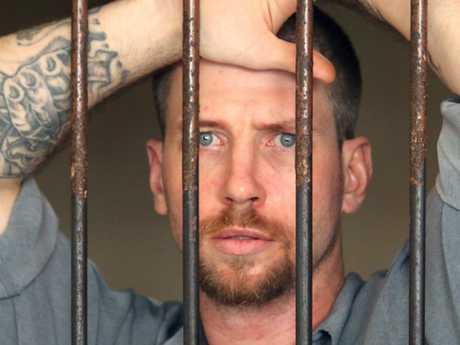 Davidson, 31 inside a Denpasar District Court cell on June 23, four days before his escape. Picture: Lukman S. Bintoro
