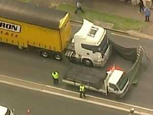 Pedestrian killed by truck in Sydney
