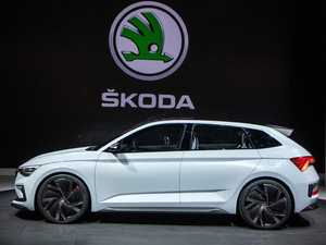 Skoda promises new models with fireworks and a light show