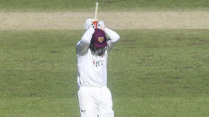 Matthew Renshaw fumes after giving his wicket away. Picture: AAP