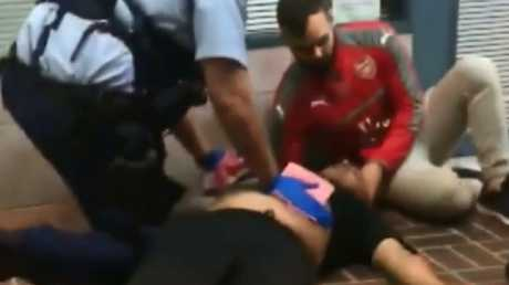 The man who tried to stop the attack is being hailed as a hero. Picture: 9 NEWS
