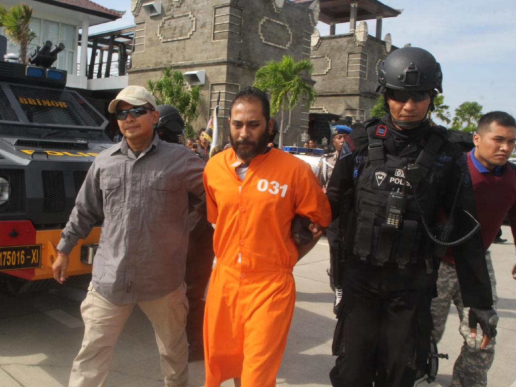 Indian national Sayed Muhammad Said is recaptured after breaking out of Kerobokan with Davidson and two others. Picture: Supplied