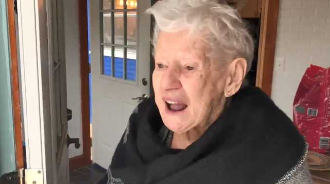 WATCH: Elderly woman's joy at seeing snow in a 'long time'
