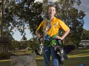 3D archery under-18 national champion Amber Reinbott