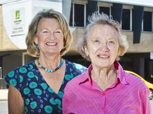 Jane Hobbs ( left ) and Diana Wright talk about the