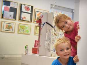 Kindy kids Chelsea Arrowsmith and Elliot Fowler are