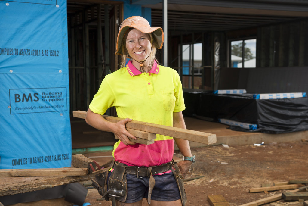 Apprentice Ashley Walker says the building industry is full of opportunities for those willing to work, Tuesday, November 20, 2018.