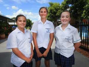 Pacific Coast School students ; Gabriela, Taylah and
