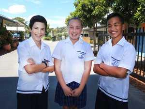 Pacific Coast School students ; Wesley, Georja and