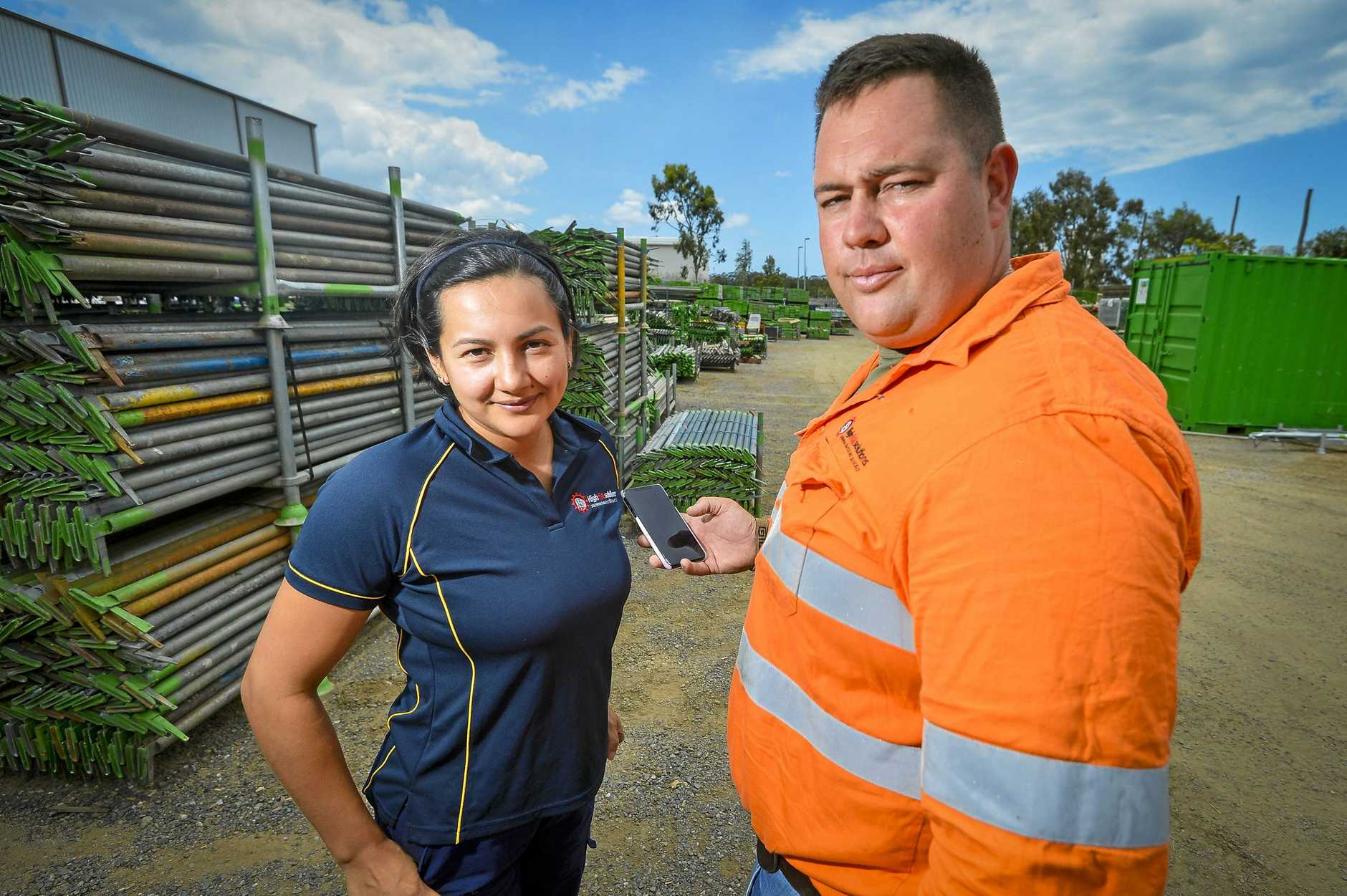 David and Ale Nunn have developed an app to help run their scaffolding business.
