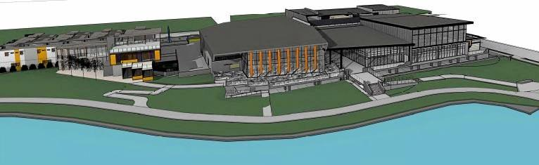 PLANS: Artist's impressions and designs of The Sports Hub at Bokarina.