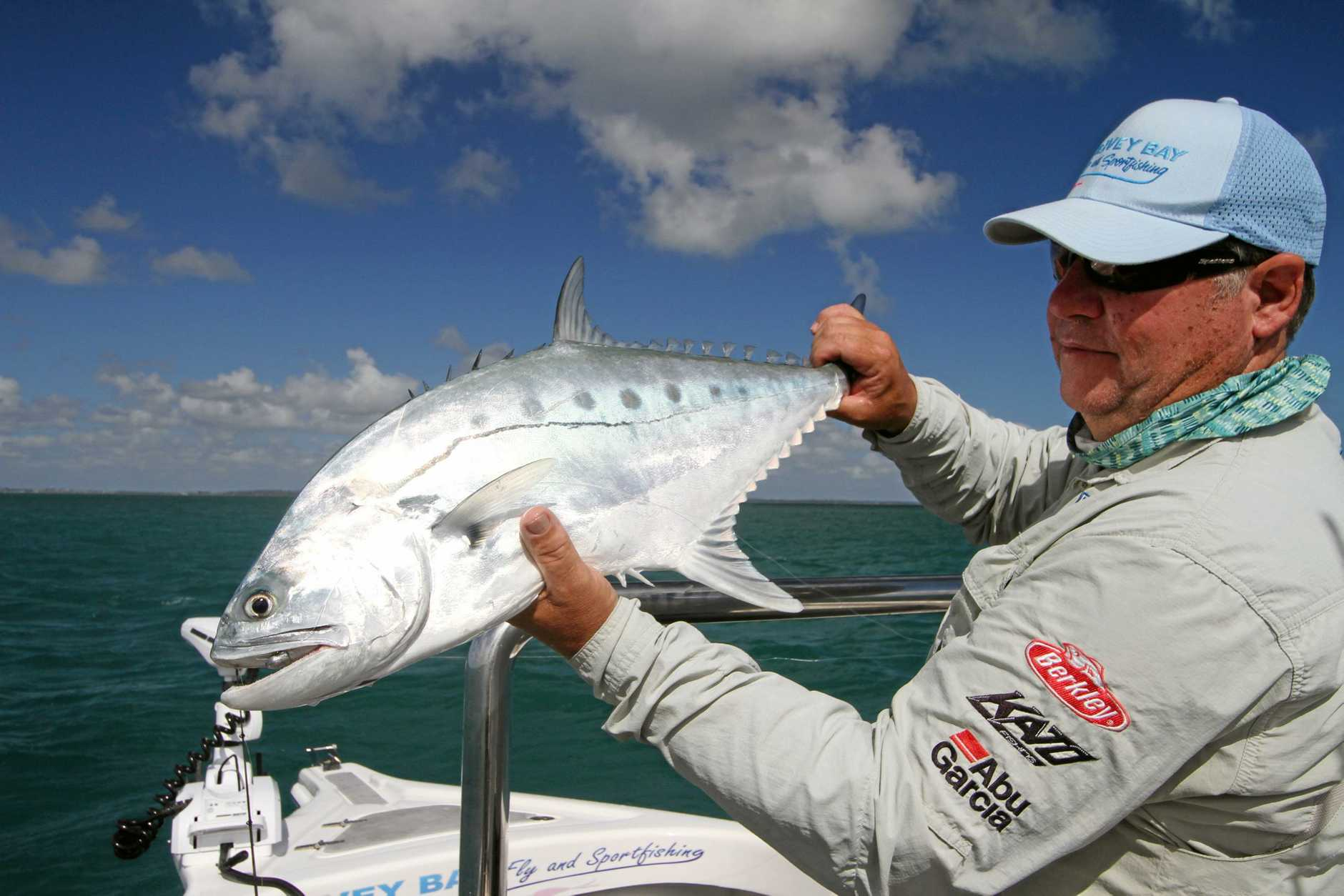 ROYAL CATCH: Gold Coaster Grant caught a queenfish along Fraser Island.