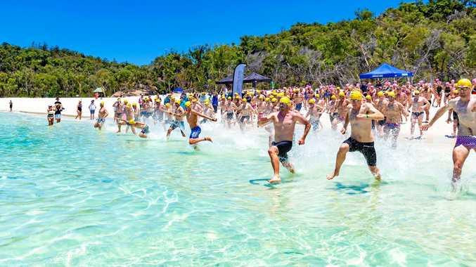 Local swimmers make waves in Whitehaven Beach Ocean Swim