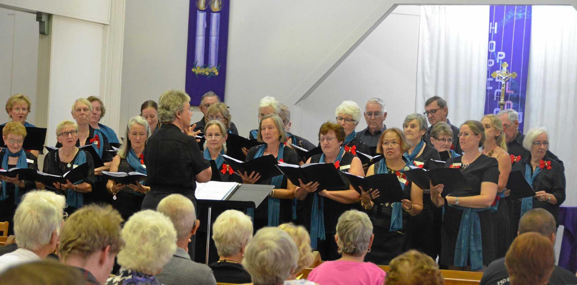 The South Burnett Chorale sang with harmonious voices.    Photo Keagan Elder / South Burnett Times