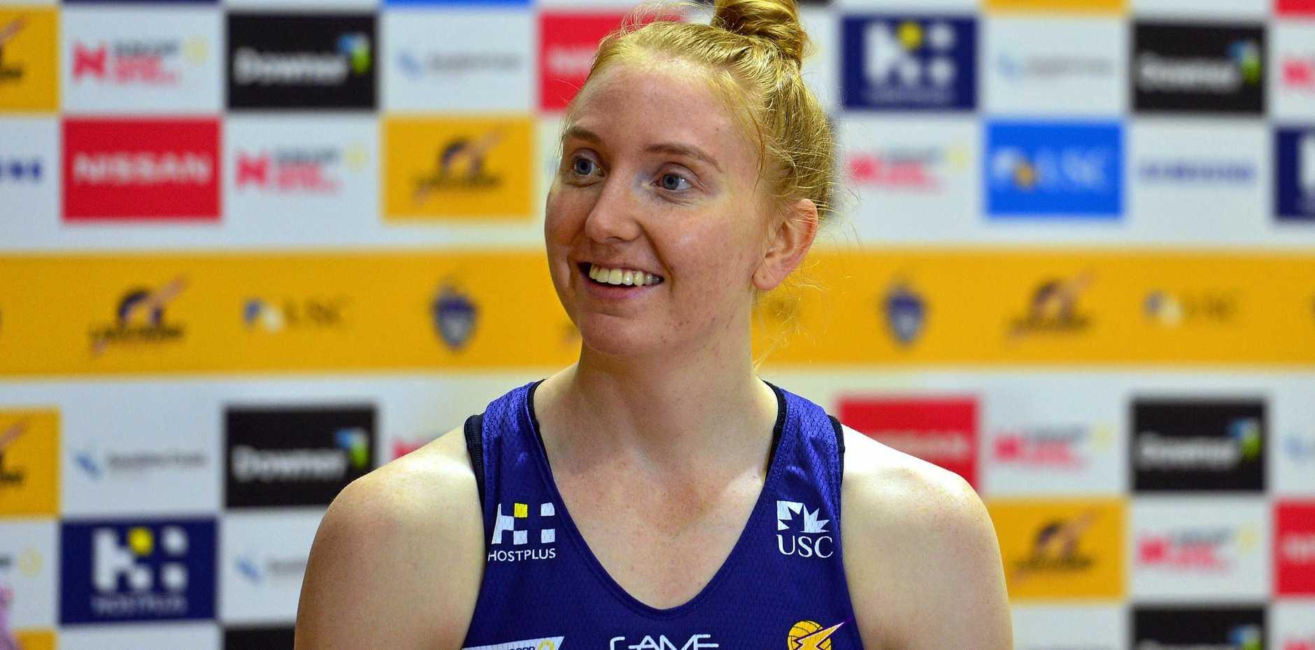 IN GOOD SPIRITS: Sunshine Coast Lightning player Madeline McAuliffe.
