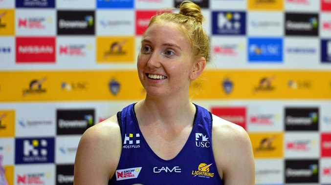 IN GOOD SPIRITS: Sunshine Coast Lightning player Madeline McAuliffe.