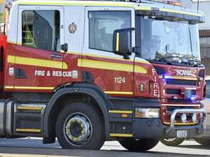 Fireys battle 'well-alight' shed