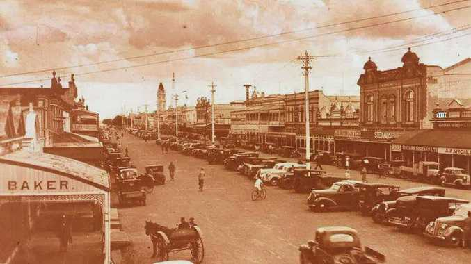 CITY CENTRE: A vintage photo showing the Bundy CBD in all its old-time glory.