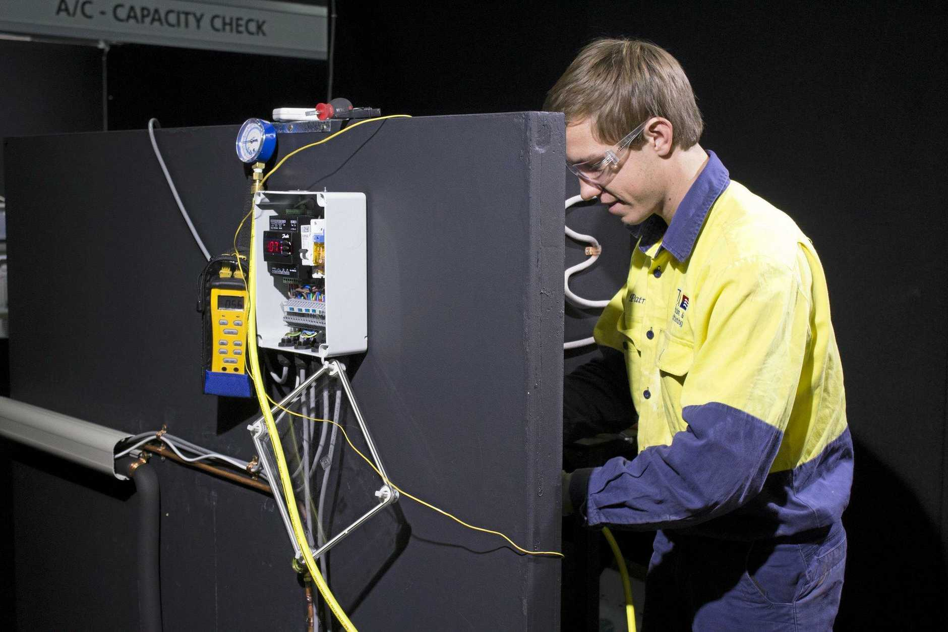 Gympie's Patrick Brennan won gold at WorldSkills National Championships 2018, in the refrigeration and airconditioning category. Picture: WorldSkills Australia