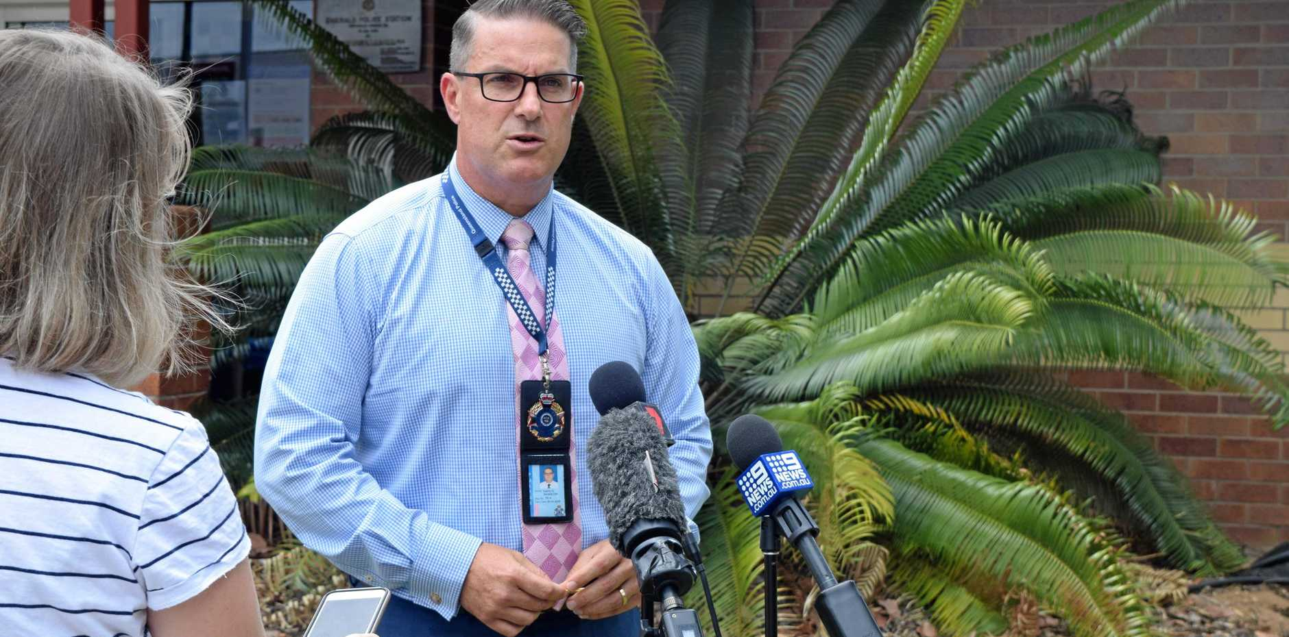 DRUG BUST: Detective Inspector Darrin Shadlow addressed media today of the closure of Operation Quebec Shephard, a six-month operation targeting Ice suppliers in The Gemfields.