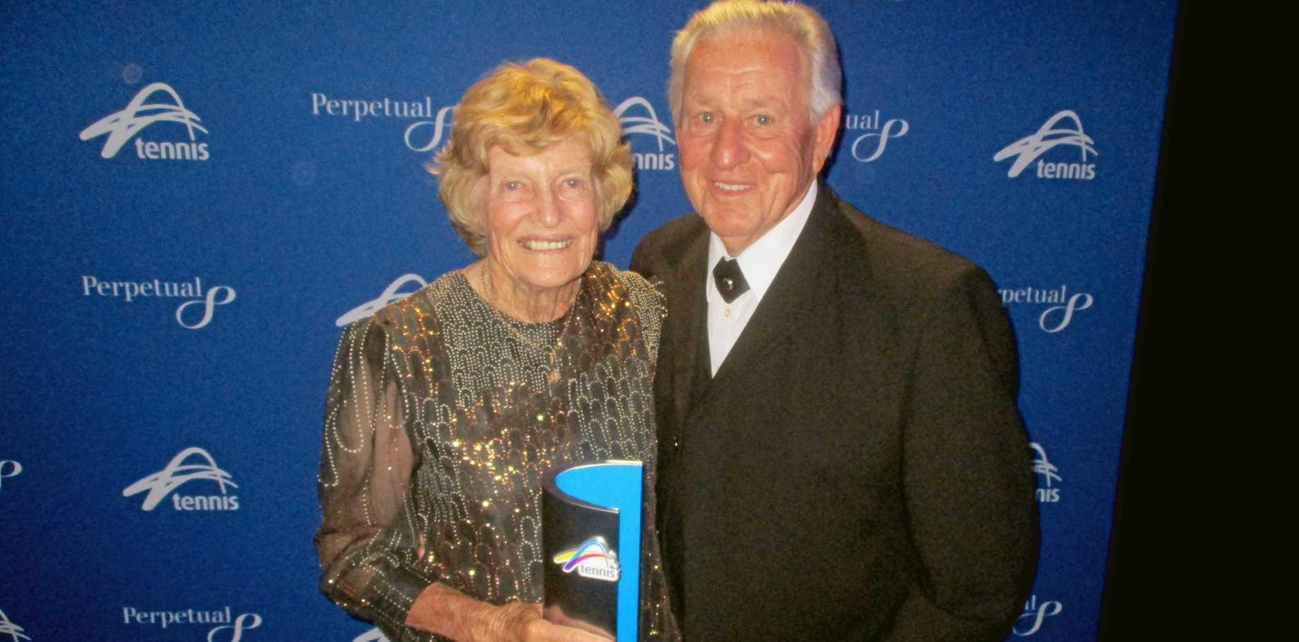 CHAMPION: Joan and Graham Nicolls at the Tennis NSW awards night.