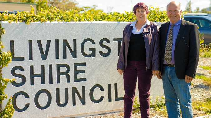 Livingstone mayor Bill Ludwig and Councillor Jan Kelly