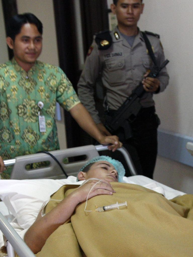 Lawrence in hospital for haemorrhoid surgery in Bali.